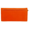 Picture of Leather Tri-Fold Purse Orange