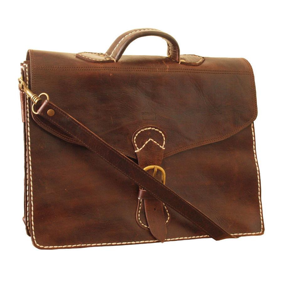 صورة حقيبة مراكش باللون البني الغامق
