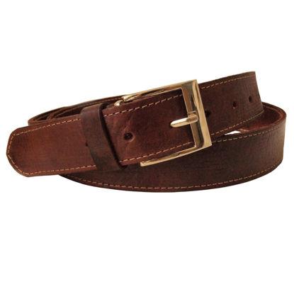 صورة حزام جلد بني ضيق