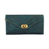 Picture of Leather Tri-Fold Purse Teal