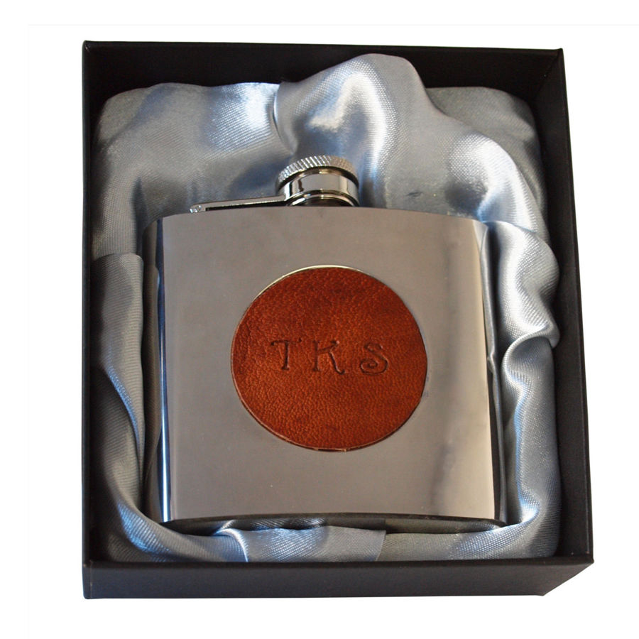 Bespoke initialled hipflask