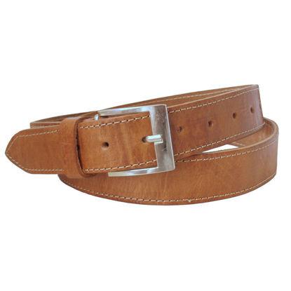 صورة حزام جلدي للأطفال / المراهقين تان