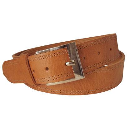 صورة حزام جلد تان واسع