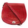 Image de Sac de selle Tamara rouge avec motif en relief