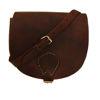 صورة حقيبة سرج كبيرة تمارا بنية اللون