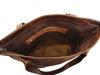 Bild von Nador Tragetasche aus weichem Leder in Dunkelbraun
