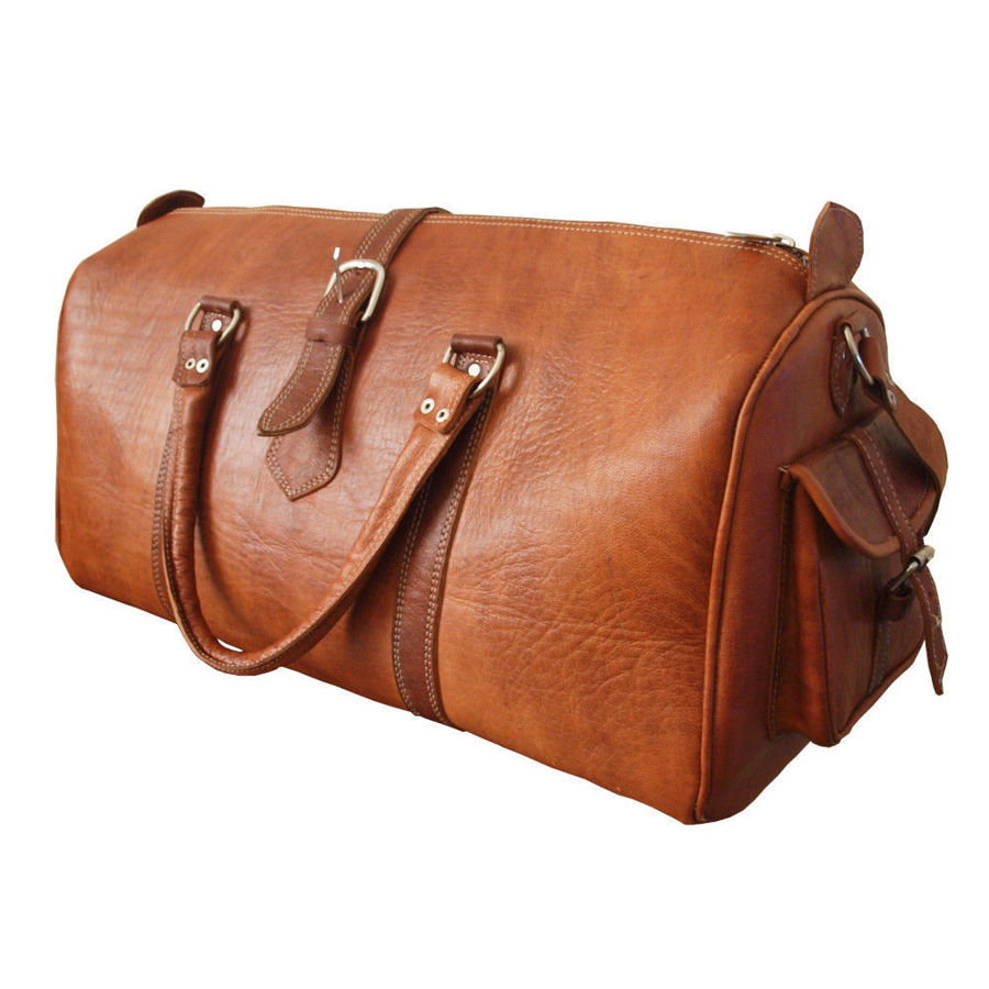 Picture of The Rabat Overnight Bag in Tan
